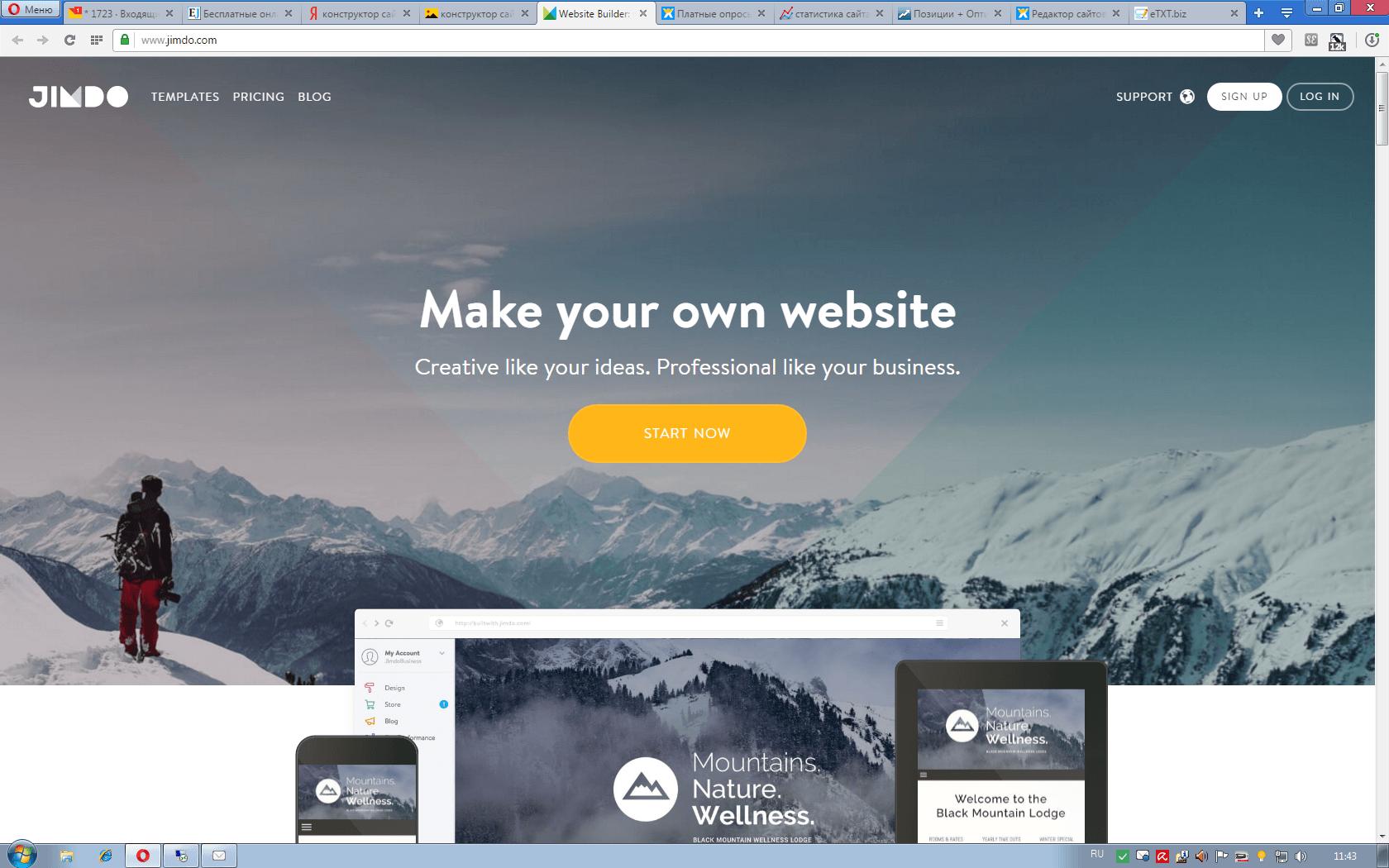 бесплатный конструктор сайта